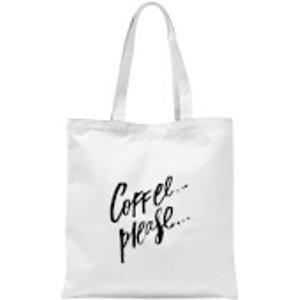 Planeta444 Coffee Please... Tote Bag - White  Tb 6740 Ffffff
