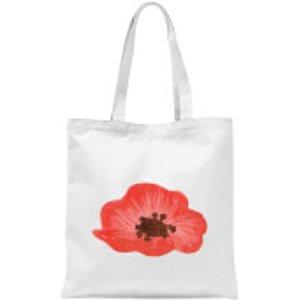 Candlelight Poppy Tote Bag - White  Tb 17711 Ffffff