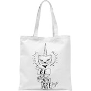 Rock On Ruby Be Who You Are Tote Bag - White  Tb 6871 Ffffff