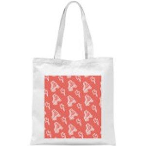 Roller Skate Pattern Red Tote Bag - White  Tb 16419 Ffffff