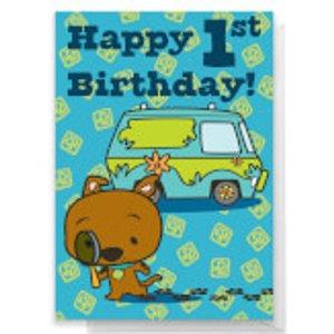 Scooby Doo 1st Birthday Greetings Card - Standard Card  Rc 26736 Ffffff A6