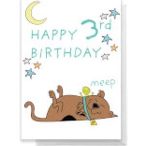 Scooby Doo 3rd Birthday Greetings Card - Giant Card  Rc 26738 Ffffff A3