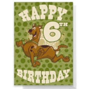 Scooby Doo 6th Birthday Greetings Card - Large Card  Rc 26741 Ffffff A4