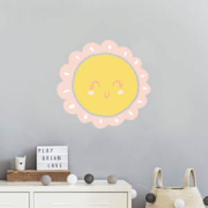 By Iwoot Smiling Sun Wall Art Sticker  Wd 18798