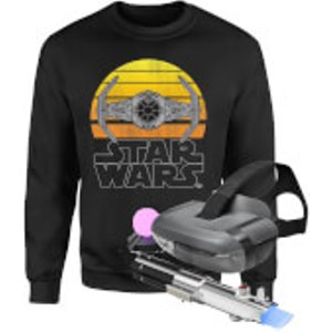 Star Wars Ar And Sweatshirt Bundle - Kids' - 3-4 Years - Black Bundle Ys 24209 Yxs, Black