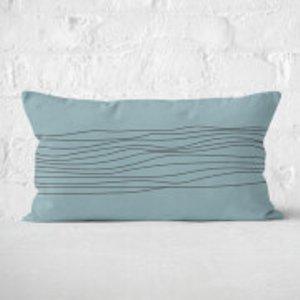 By Iwoot Stripes & Circle Rectangular Cushion - 30x50cm - Soft Touch  Cur 38514 30x50 St