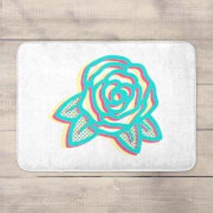 Summer Rose Bath Mat  Bm 32319 Ffffff