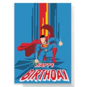 Dc Comics Superman Happy Birthday Greetings Card - Large Card  Rc 26719 Ffffff A4