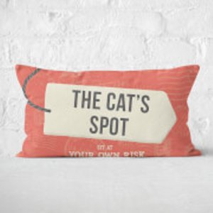 By Iwoot The Cat's Spot Rectangular Cushion - 30x50cm - Soft Touch  Cur 15724 30x50 St
