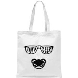 By Iwoot Tiny Geek Tote Bag - White  Tb 1202 Ffffff