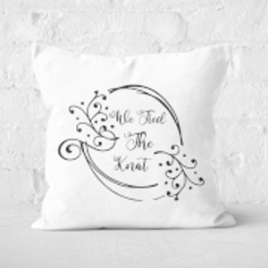 Weddings We Tied The Knot Square Cushion - 50x50cm - Soft Touch  Cu 31606 50x50 St