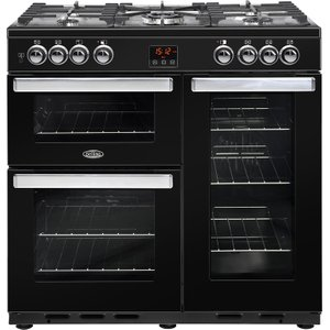 Belling Cookcentre-90dft-black Cookers & Ovens