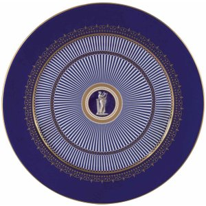 Wedgwood Anthemion Blue Charger Plate 30cm 091574131610 Crockery