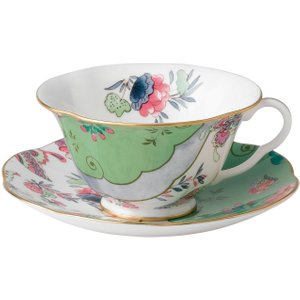 Wedgwood Butterfly Bloom Green Teacup And Saucer 091574178745 Crockery
