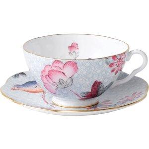 Wedgwood Cuckoo Blue Teacup And Saucer 091574165578 Crockery