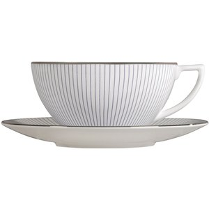 Wedgwood Jasper Conran Pin Stripe Teacup & Saucer 701587445818 Crockery