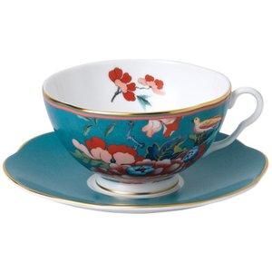 Wedgwood Paeonia Blush Green Teacup And Saucer 701587384087 Crockery