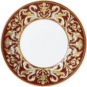 Wedgwood Renaissance Red Plate 23cm Florentine Accent 701587453424 Crockery