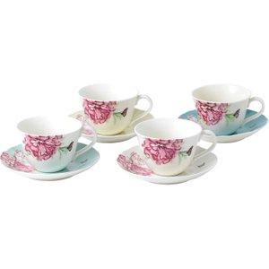Wedgwood Royal Albert Miranda Kerr Everyday Friendship Teacups And Saucers, Set Of 4 701587396387 Crockery
