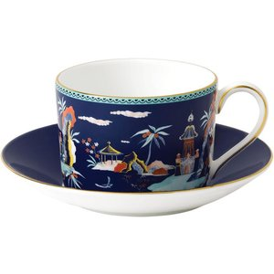Wedgwood Wonderlust Blue Pagoda Teacup & Saucer 701587380393 Crockery
