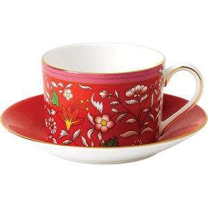 Wedgwood Wonderlust Crimson Jewel Teacup & Saucer 701587380300 Crockery