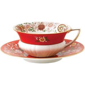 Wedgwood Wonderlust Crimson Orient Teacup And Saucer 701587315425 Crockery