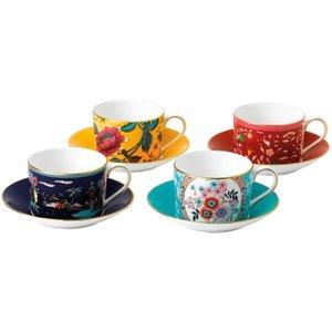 Wedgwood Wonderlust Teacup & Saucer, Set Of 4 701587413558 Crockery