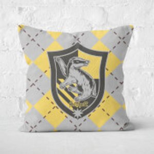 Harry Potter Hufflepuff Square Cushion - 50x50cm - Soft Touch  Cu 16321 50x50 St Home Accessories