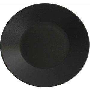 Midnight Wide Rim Plate Black 27.5cm (pack Of 6) 31079 12674