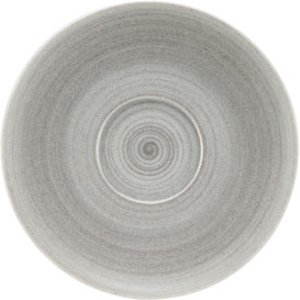 Modern Rustic Coupe Saucers Stone 12cm (case Of 12) 37660 19362