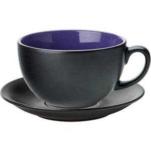 Utopia Barista Cappuccino Cup & Saucer Indigo 14oz / 400ml (set Of 6) 26875 12996