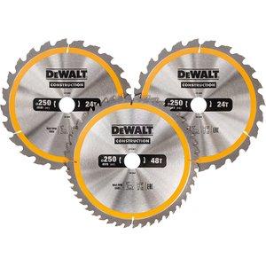 Dewalt Dt1964 Construction Circular Saw Blade 3 Pack 305 X 30mm X 24t/48t/60t Dewdt1964qz