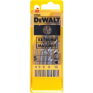 Dewalt Extreme Masonry Drill Bit Set, 5 Piece Dewdt6956qz