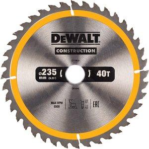 Dewalt Portable Construction Circular Saw Blade 235 X 30mm X 40t Dewdt1955qz