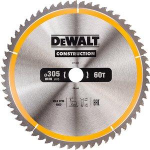 Dewalt Stationary Construction Circular Saw Blade 305 X 30mm X 60t Atb/neg Dewdt1960qz