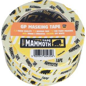 Everbuild Mammoth Retail Masking Tape 50mm X 50m Evb2mt50