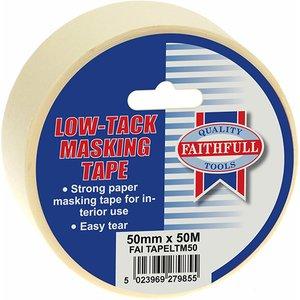 Faithfull Low Tack Masking Tape 50mm X 50m Faitapeltm50