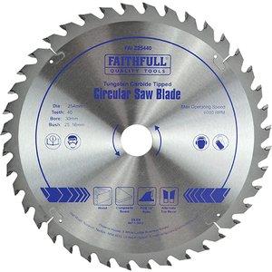 Faithfull Tct Circular Saw Blade 254 X 30mm X 40t Pos Faiz25440