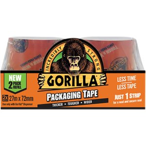 Gorilla Glue Gorilla Packaging Tape Refill 72mm X 27m (pack 2) Grgpktape27