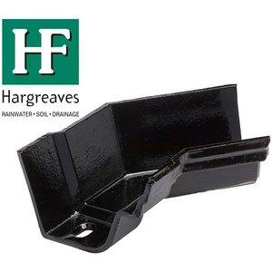 Hargreaves Foundry 115mm Black Cast Iron Notts Og Gutter 135 Degree Internal Angle Xno4513
