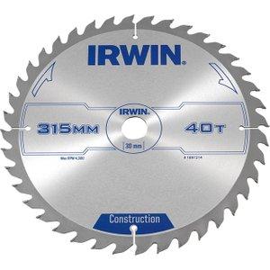 Irwin® General Purpose Table & Mitre Saw Blade 315 X 30mm X 40t Atb Irw1897214