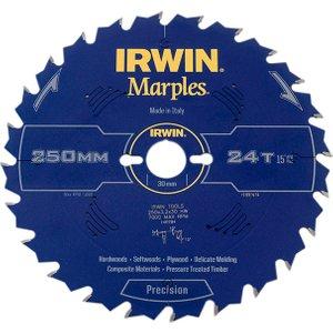 Irwin® Marples Table & Mitre Circular Saw Blade 250 X 30mm X 24t Atb Irw1897474