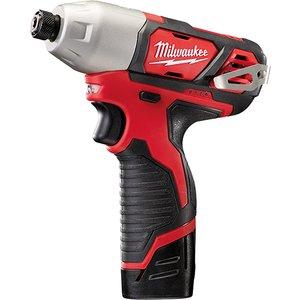 Milwaukee Power Tools M12 Bid-202c Sub Compact 1/4in Impact Driver 12v 2 X 2.0ah Li-ion Milm12bid2