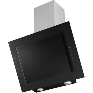 Prima+ 90cm Angled Chimney Hood - Black Glass - Prae1006