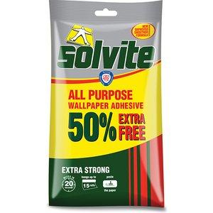 Solvite All Purpose Wallpaper Paste Sachet 10 Roll + 50% Free Slvecconomy