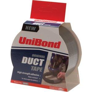 Unibond Duct Tape 50mm X 50m Silver Twin Pack Uni1418175
