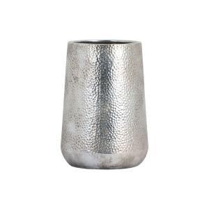 Hill Interiors 19392 Metallic Ceramic Tapered Vase CERAMIC Width 20cm Height 28cm Depth 20cm Weight 2.00kg, GOLD