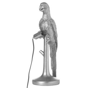 Hill Interiors 21664 Percy The Parrot Silver Table Lamp RESIN Width 16cm Height 43cm Depth 16cm Weight 3.05kg, SILVER