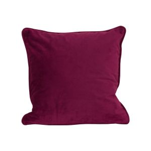 Hill Interiors 19346 Aubergine Velvet Cushion 40x40cm RED Width 40cm Height 40cm Depth 0cm Weight 0.50kg, Gifts & Accessories > Textiles