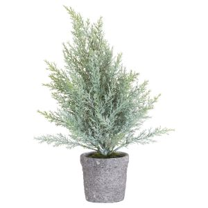 Hill Interiors 21032 The Noel Collection Potted Christmas Tree PLASTIC Width 15cm Height 36cm Depth 15cm Weight 0.41kg, GREEN
